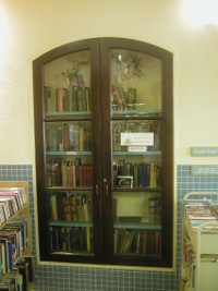 Windows of the Original Meanley Home used as Bookcases